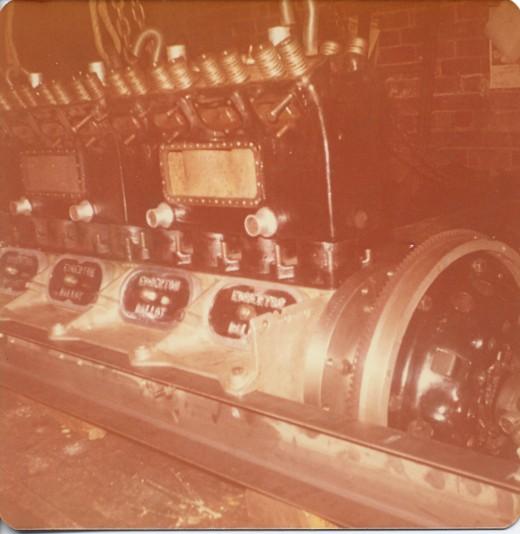 5 litre Ballot motor during rebuild.