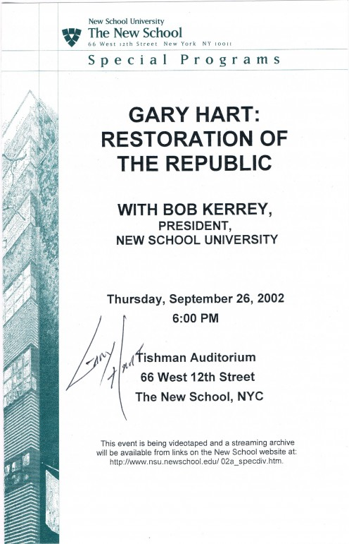 I got Gary Hart to sign two of these programs.