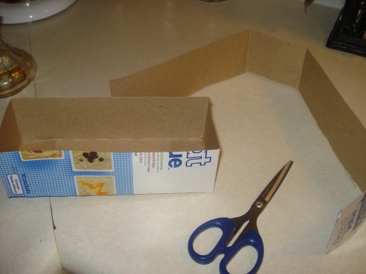 Cut lightweight box to desired size