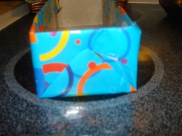 Cover the sides - just like wrapping a gift!