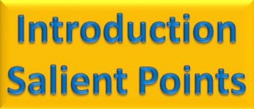 Introduction Salient Points