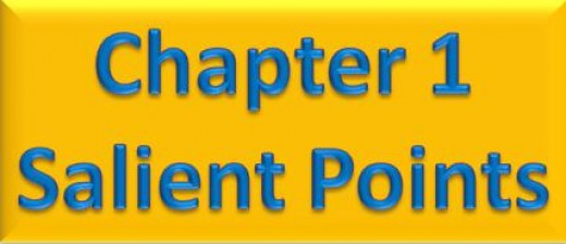 Chapter 1 Salient Points