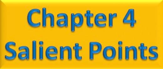 Chapter 4 Salient Points