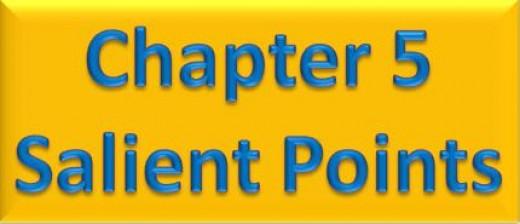 Chapter 5 Salient Points