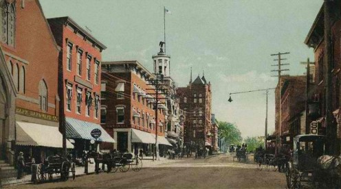 Downtown Nashua in 1905