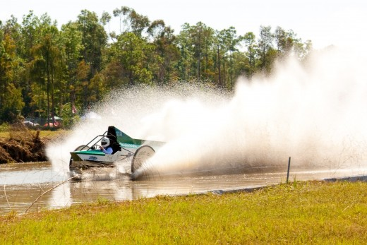 "Negotiating the ""Mile-o-Mud"" at the Naples Florida Swamp Buggy Races"