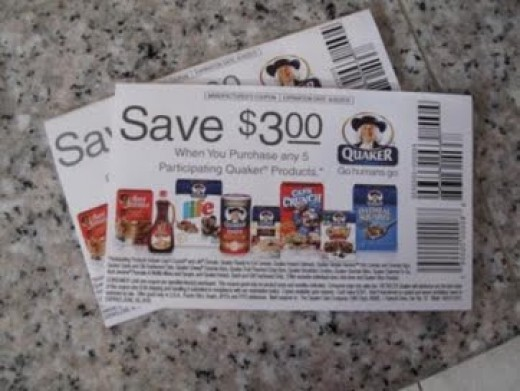 Elusive Quaker Tearpad Coupon for $3.00 off when you buy any 5 Quaker products - photo by: Julie & Heidi, Source: Flickr, found with Wylio.com