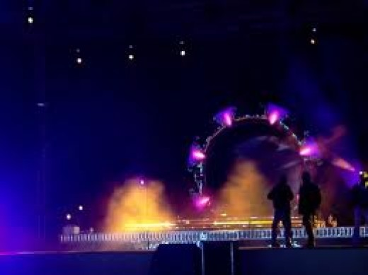 """Global village amphi theater """" with dance of light """""""