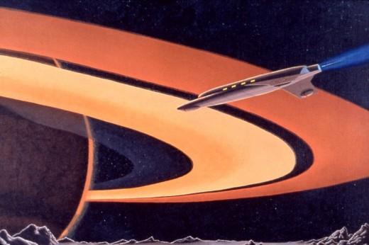 """Janus Approach,"" 24x30"", 1978, acrylic on canvas. Copyright Carl Martin."