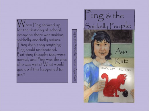 "The cover for ""Ping & The Snirkelly People"" that I made with the free trial version of InDesign Illustration by Lanie Frick."