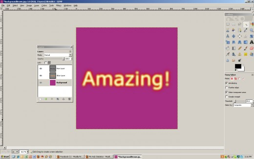 A background will appear after applying the logo effect. Delete this layer.