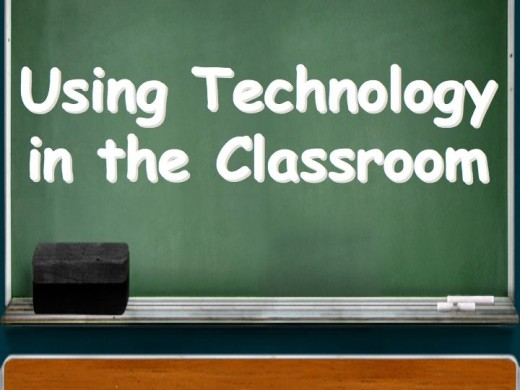 chalkboard that says, using technology in the classroom