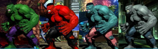 Chris Redfield accessorizes for the modern age whereas Hulk stands by his looks of days long past