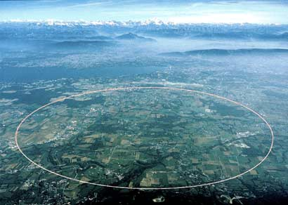 16,8 mile long particle accelerator at CERN