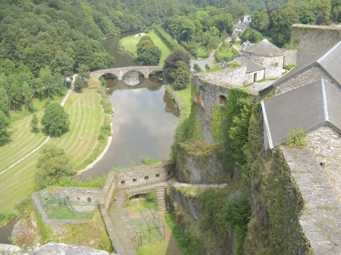 The castle and Semois River at Bouillon