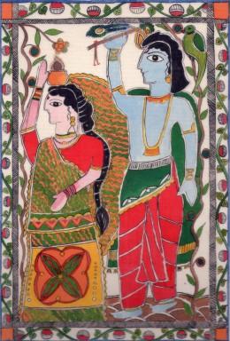 Lord Krishna and Rukmini his consort