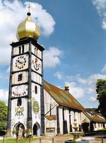 Santa Barbara church (patron of miners) in Brnbach