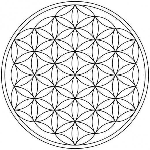 Flower of Life. The symbol can be used as a metaphor to illustrate the connectedness of all life and spirit within the universe.  Image by by Justin Mackey Facebook.