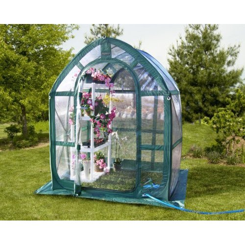 Flower House FHPH155CL PlantHouse 2 Pop-Up Plant House, Clear