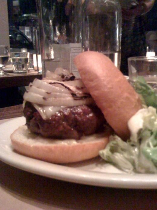 The cheeseburger at Bar Jules in Hayes Valley.