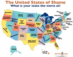 Every State Ranks Worst in Something: What's Your State Guilty Of?
