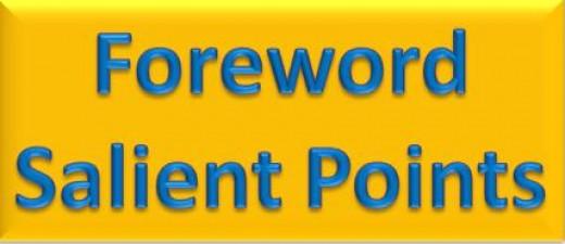 Foreword Salient Points