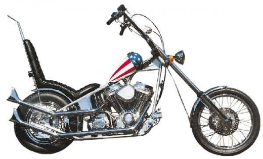 The only Fonda-officially-endorsed version is by far the worst. It's just a CMC chopper with a flag tank.
