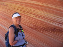 Marie-Belle was delighted and astounded by the colored striations-we all were