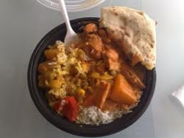 A filling meal at the Mosque Kitchen