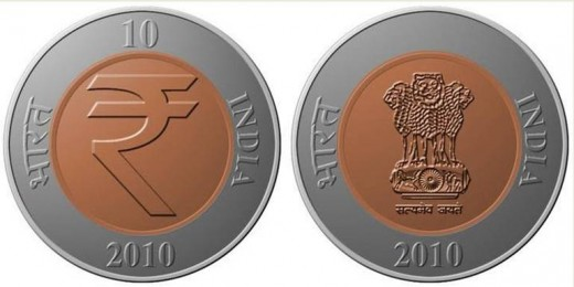 New Indian 10-rupee coin