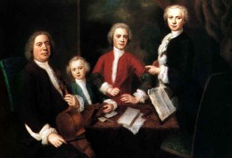 Bach with three of his sons