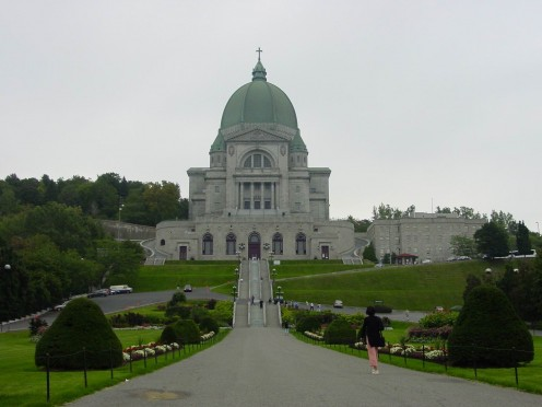 The imposing form of St. Joseph's Oratory, on Mount Royal