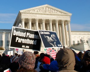 AUL took part in the 2011 March for Life. This photo was taken outside of U.S. Supreme Court Building
