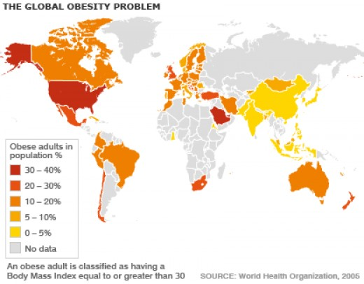 Countries With The Lowest And Highest Obesity Rates In The World - Us obesity map 2015