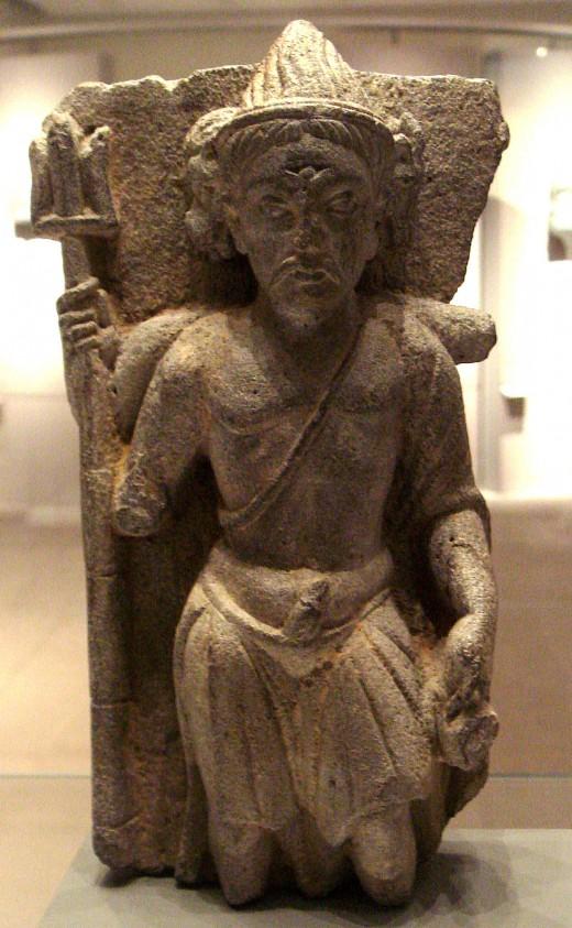 Shiva de tres cabezas, Gandhara, segundo siglo