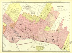 A 19th century map of Montreal