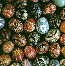 Ukrainian Easter eggs, courtesy of Carl Fleischhauer , Creative Commons
