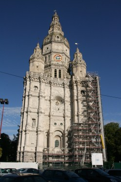 The remarkably ornate frontage of the Abbey tower of Saint-Amand-les-Eaux