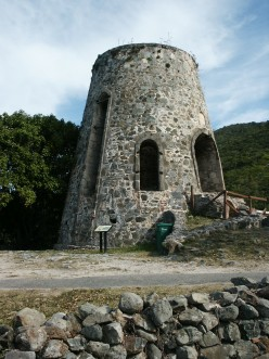 Sugar cane ovens from the past on St John.