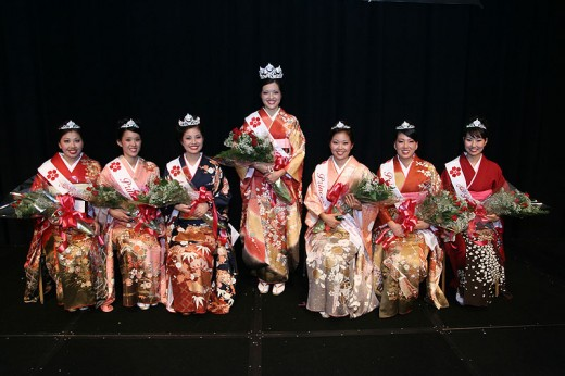 Cherry Blossom Queen and Court, 56th Cherry Blossom Festival, Hawaii