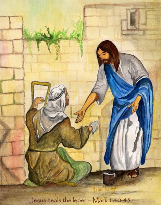 Jésus guérit un lépreux dans images sacrée 451223_f520