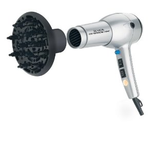 Revlon RV544 1875 Watt Tourmaline Ionic Lightweight Dryer, Silver/Black