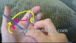 ChemKnits provides many how to knit tips and tutorials