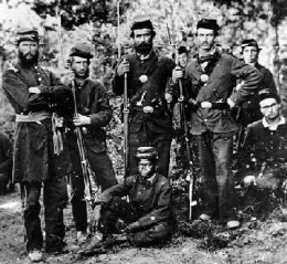 Photo of Michigan Civil War Union Soldiers
