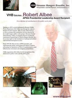 Bob Albee received a Presidential Leadership Award