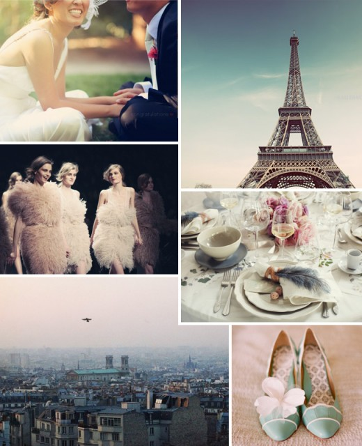 City of Love PARIS bridal inspiration board