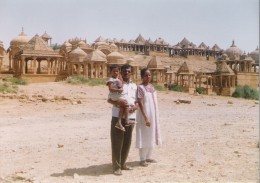 Nearer view of Bara bagh,Jaisalmer.Hundreds of tombs are seen.