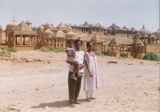 Nearer view of Bara bagh,Jaisalmer.Hundreds of tombs are seen.