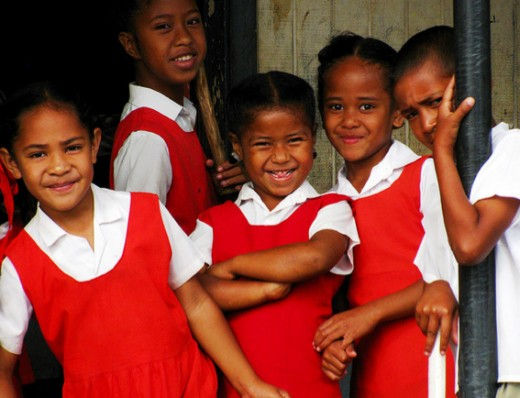 School children in Tonga
