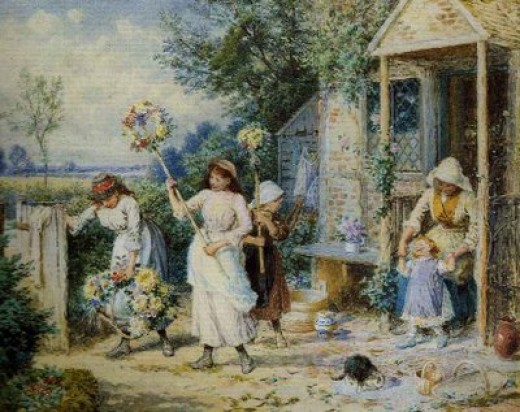 Painting by Miles Birket Foster